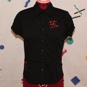 "Vexy ""Let it Rock"" black shirt"